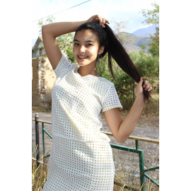Perforated women's dress