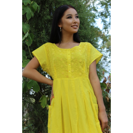 """Plain dress """"Neon"""" with embroidery"""
