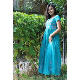 """Women's dress """"Ocean"""" with embroidery"""
